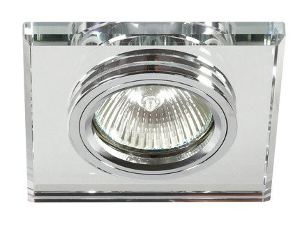 Oprawa stropowa szklana kwadratowa oczko bezbarwne SS-13 Candellux 2230453
