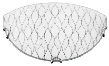 Plafon biały szklany lampa ścienna River 11-81998