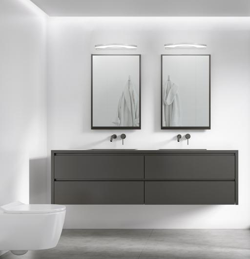 Kinkiet łazienkowy chrom zimny biały LED 5W 41cm Nike Candellux 20-37374
