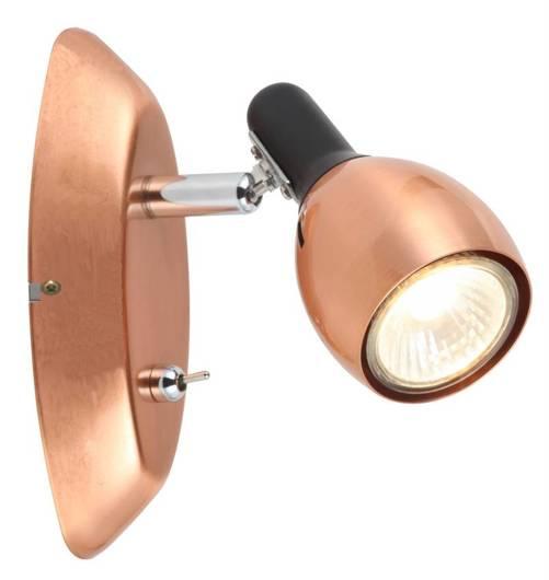 LAMPA ŚCIENNA KINKIET CANDELLUX CROSS 91-32768  GU10 MIEDZIANY