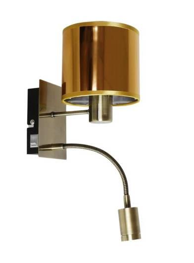 LAMPA ŚCIENNA KINKIET CANDELLUX SYLWANA 21-52278  E14 + LED Z WYŁĄCZNIKIEM PATYNA / ZŁOTY