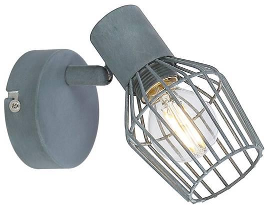 LAMPA ŚCIENNA KINKIET CANDELLUX VIKING 91-68002  E14 SZARY