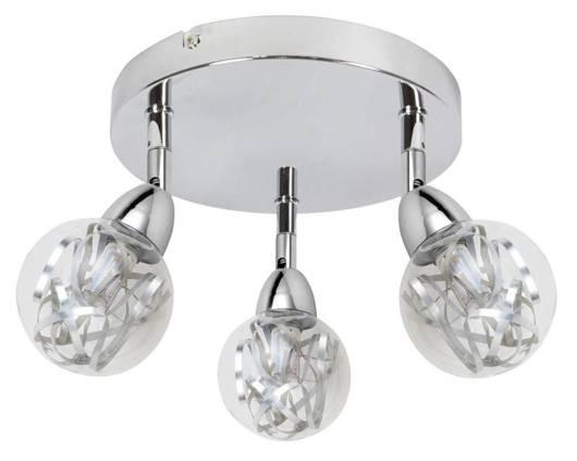 LAMPA SUFITOWA  CANDELLUX BOLO 98-67708 PLAFON  LED SMD GŁÓWKA OKRĄGŁA  Z PRZEGUBEM KLOSZ WYMIENNY   CHROM/BEZBARWNY