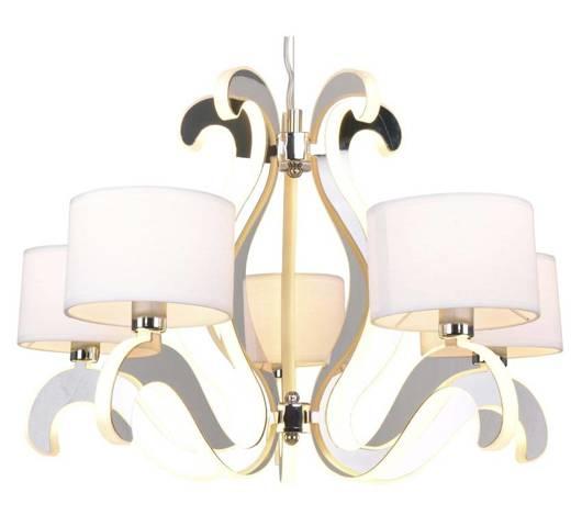 LAMPA SUFITOWA WISZĄCA CANDELLUX AMBROSIA 35-33857  E14 +  LED CHROM