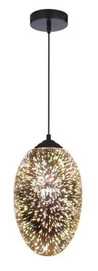 LAMPA SUFITOWA WISZĄCA CANDELLUX GALACTIC 31-56122  E27 3D