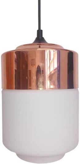 LAMPA SUFITOWA WISZĄCA CANDELLUX MASALA 31-37633  E27 BIAŁY  Z MIEDZIANĄ NAKŁADKĄ