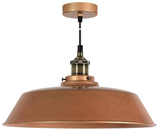 LAMPA SUFITOWA WISZĄCA CANDELLUX TILA 31-31358   E27 KLOSZ WYSOKI MIEDZIANY