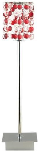 Lampa Stołowa Gabinetowa Candellux Classic 41-60177 G9 Czerwona