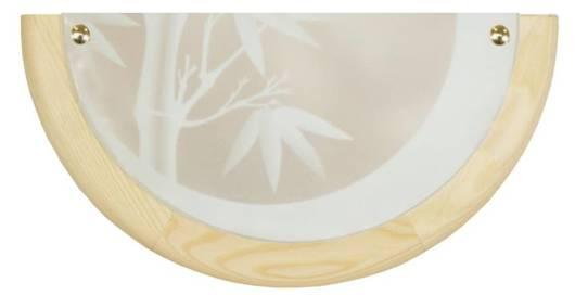 Lampa Sufitowa Candellux Bamboo 11-06639 Plafon Drewno Standard 1X60 W E27 Sosna