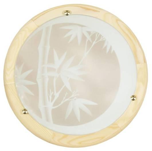 Lampa Sufitowa Candellux Bamboo 13-05021 Plafon Drewno Standard 1X60 W E27 Sosna