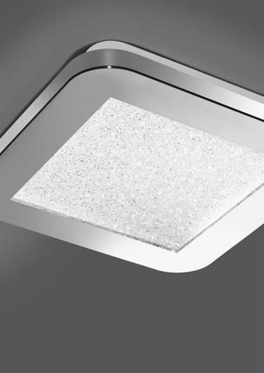 Lampa Sufitowa Candellux Nexit 10-66817 Plafon 10W Led Ip44 Satyna+Biały 3000K