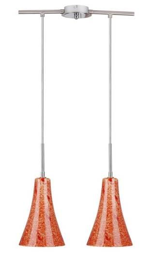 Lampa Sufitowa Candellux Wyprzedaż 32-14651 Rufi Zwis 2X40 W E14 Chrom/Satyna Nikiel