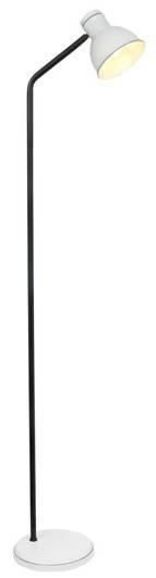 Lampa podłogowa czarno-biała prosta regulowana Zumba Candellux 51-72092
