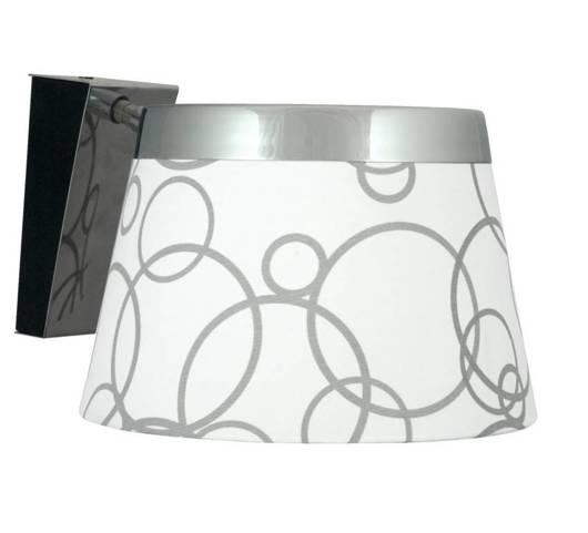 Lampa ścienna kinkiet 1X60W E27 biały chrom IMPRESJA 21-46478