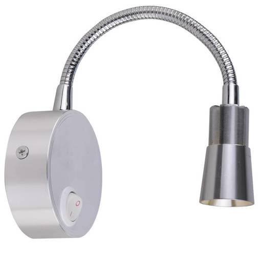 Lampa ścienna kinkiet 3W LED chrom klosz stożek DINO 21-43689