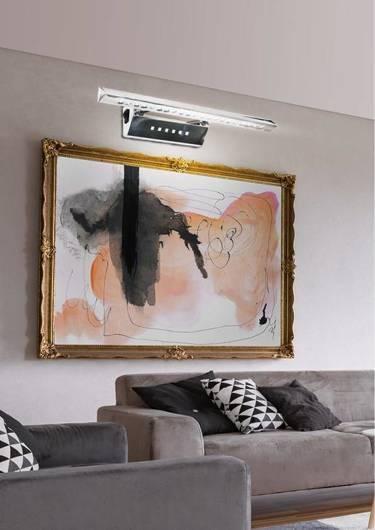Lampa ścienna kinkiet 7W LED rurka trójkątna z wyłącznikiem chrom FORTE 20-27030