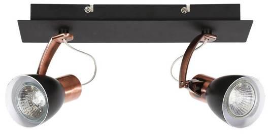 Lampa ścienna kinkiet listwa 2X50W GU10 czarny/miedziany MARKUS 92-37442-M