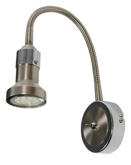 Lampa ścienna kinkiet na wysięgniku GU10 1x50W satyna nikiel+chrom Arkon 91-60037