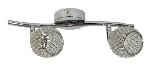 Lampa ścienna listwa 2X40W G9 srebro CLEAR 92-06875