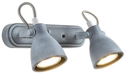 Lampa ścienna listwa 2X40W GU10 szary mat ASH 92-64400
