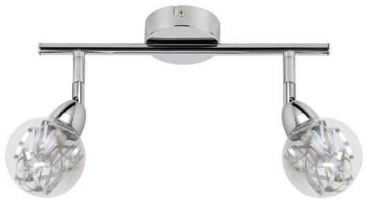 Lampa ścienna listwa 2X6W LED główka okrągła BOLO 92-67586