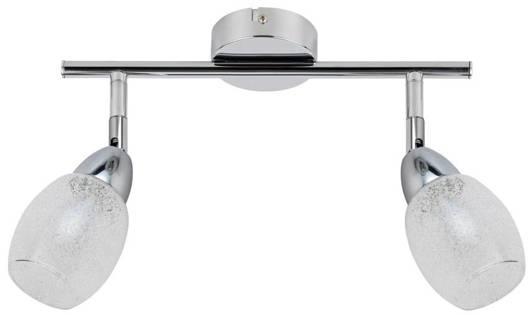 Lampa ścienna listwa 2X6W LED główka okrągła chrom RICO 92-67579