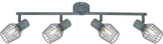 Lampa ścienna sufitowa listwa 4X40W E14 szary VIKING 94-68033