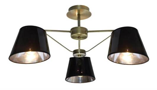 Lampa sufitowa czarna/patynowa Cortez 33-54982
