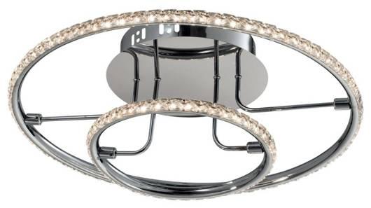 Lampa sufitowa okrągła LED chrom plafon 36W 3000K Adel Candellux 98-69634