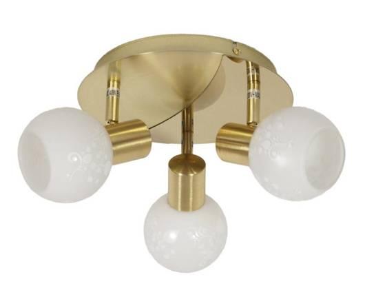 Lampa sufitowa plafon 3X40W E14 mosiądz AVILA 98-07131