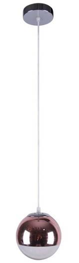 Lampa sufitowa wisząca 1X60W E27 róż/złoto GAZE 31-43085