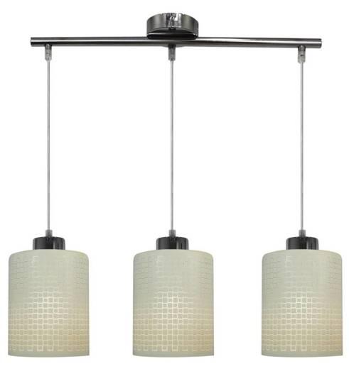Lampa sufitowa wisząca 3X60W E27 chrom Marcepan 33-59123