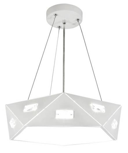 Lampa wisząca biała pięciokątna regulowana LED 24W Nemezis Candellux 31-64875