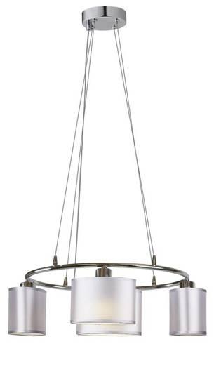 Lampa wisząca chromowa 4x40W abażur z tkaniny Ban Candellux 34-70807