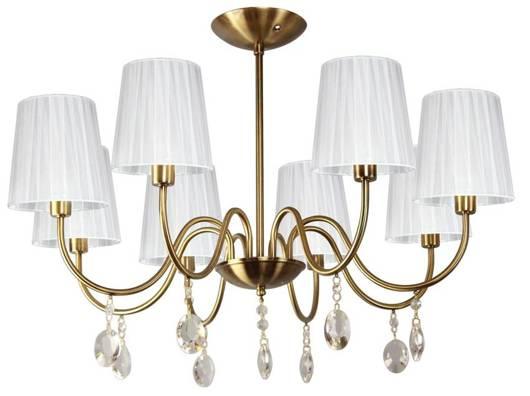 Lampa wisząca patyna/biały z kryształkami 8x40W Sorento Candellux 38-38159
