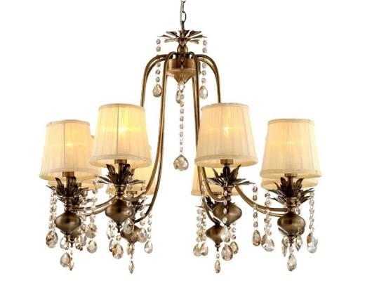 Lampa wisząca regulowana żyrandol patynowy 8x40W Adonis Candellux 38-13873