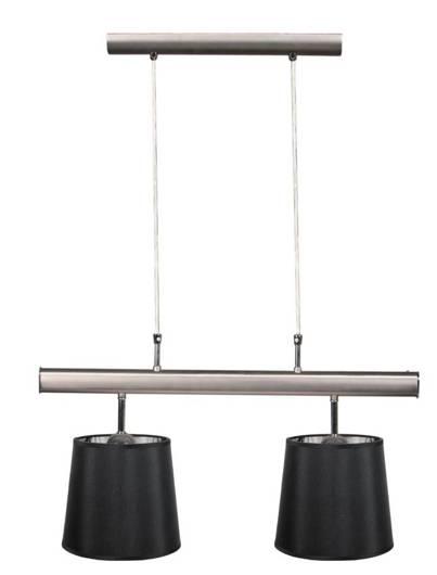 Lampa wisząca satyna podwójna czarny abażur 2x60W Milonga Candellux 32-53541