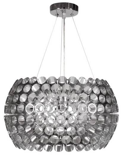 Lampa wisząca srebrna aluminiowa regulowana E27 Abros Candellux 31-94097