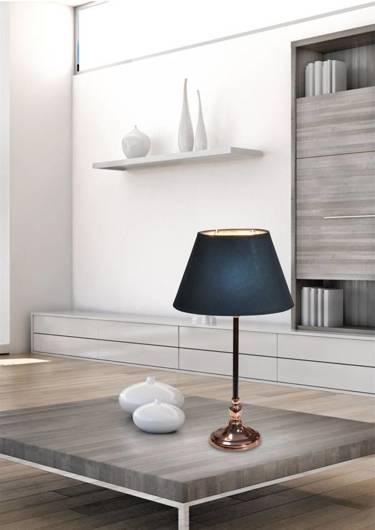 Lampka stołowa gabinetowa czarna Noe 41-38821