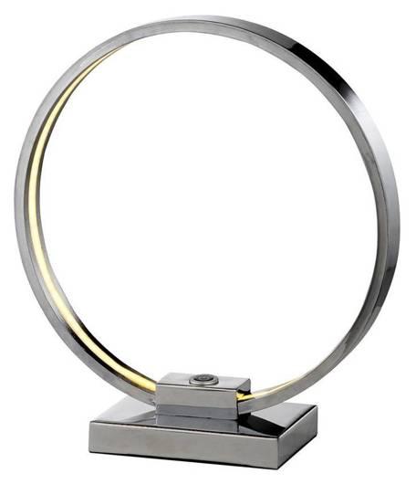 Lampka stołowa nocna chrom LED okrągła gabinetowa Circle Candellux 41-25210