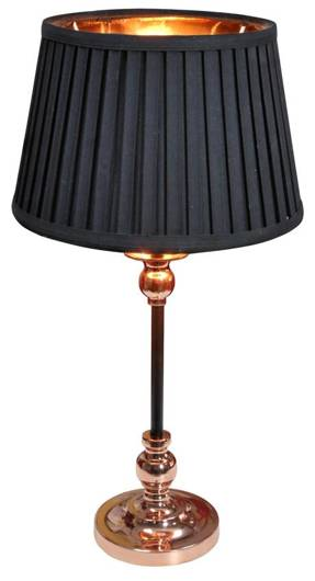Lampka stołowa nocna czarno-miedziana stożek 60W Amore Candellux 41-38777