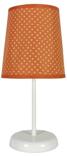 Lampka stołowa nocna pomarańczowa w kropki Gala 41-98286